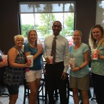 PTO Officers with Mr. Pillay at Chick-fil-A Spirit Night