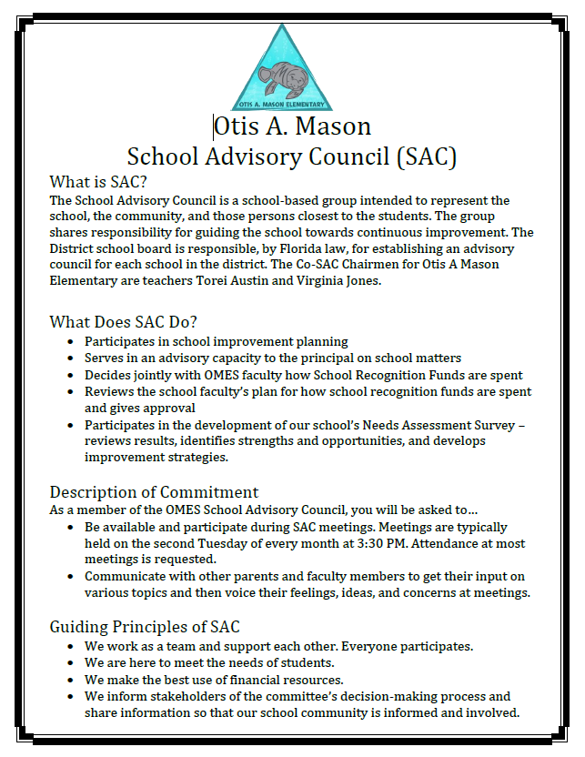 SAC Informational Flyer